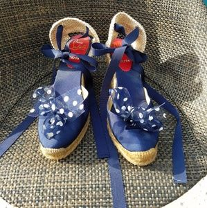 Christian Louboutin lace up wedges size 37